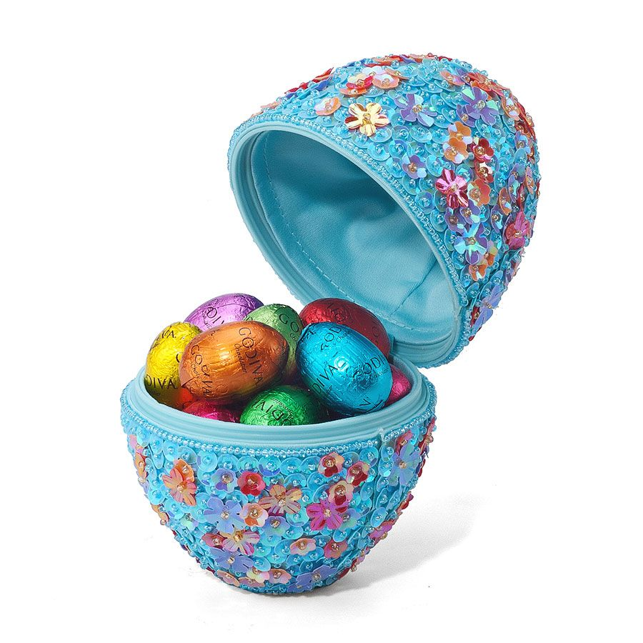 Filled with assorted godivas precious charmingly fresh easter eggs easter gift baskets negle Choice Image