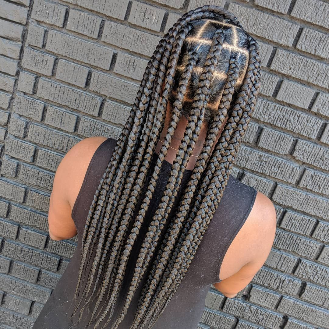 Book Under Knotless Box Braids 💕 in 2020