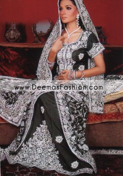 609e27ce6c Latest Pakistani Wedding Dress – Black Silver lehnga   Cool Attire ...