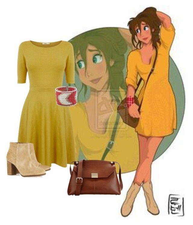 """Disney University: Jane"" by jasminevans ❤ liked on Polyvore featuring Disney, Oasis, Schutz, Zad and Carlo Pazolini"