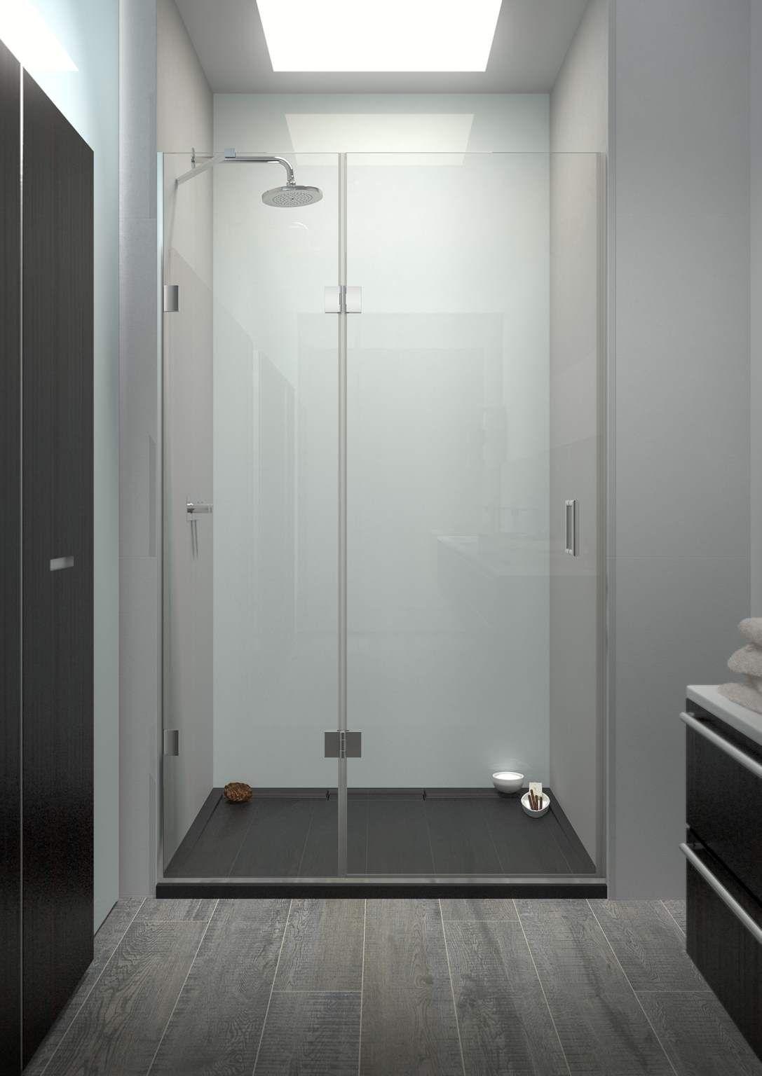 Floor To Ceiling Glass Shower Screen Fermium 04 Inline Panel
