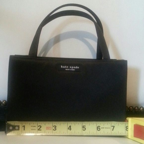 Kate Spade black nylon handbag Authentic Kate Spade small black handbag. Almost new! kate spade Bags