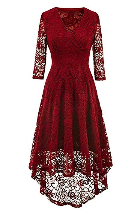 Amazon ballkleid weinrot
