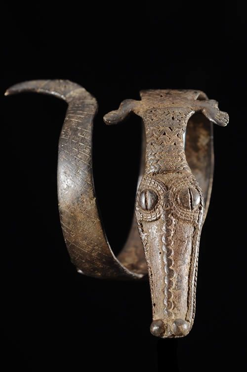 Africa   'Dekoggoro' Arm Band. Gan peoples, Burkina Faso.  Bronze   ca 1970s