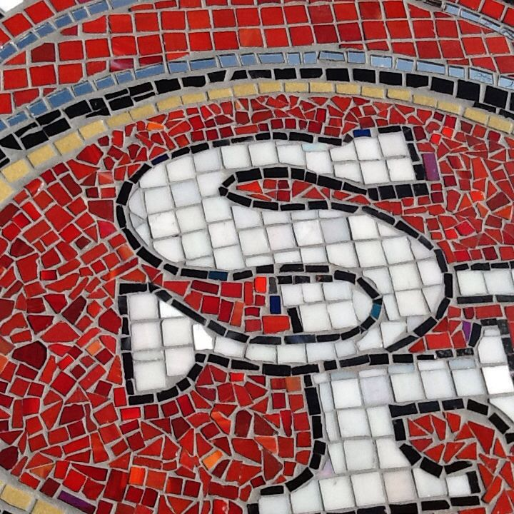 San Francisco 49ers Bar Table Mosaic Projects 49ers Mosaic