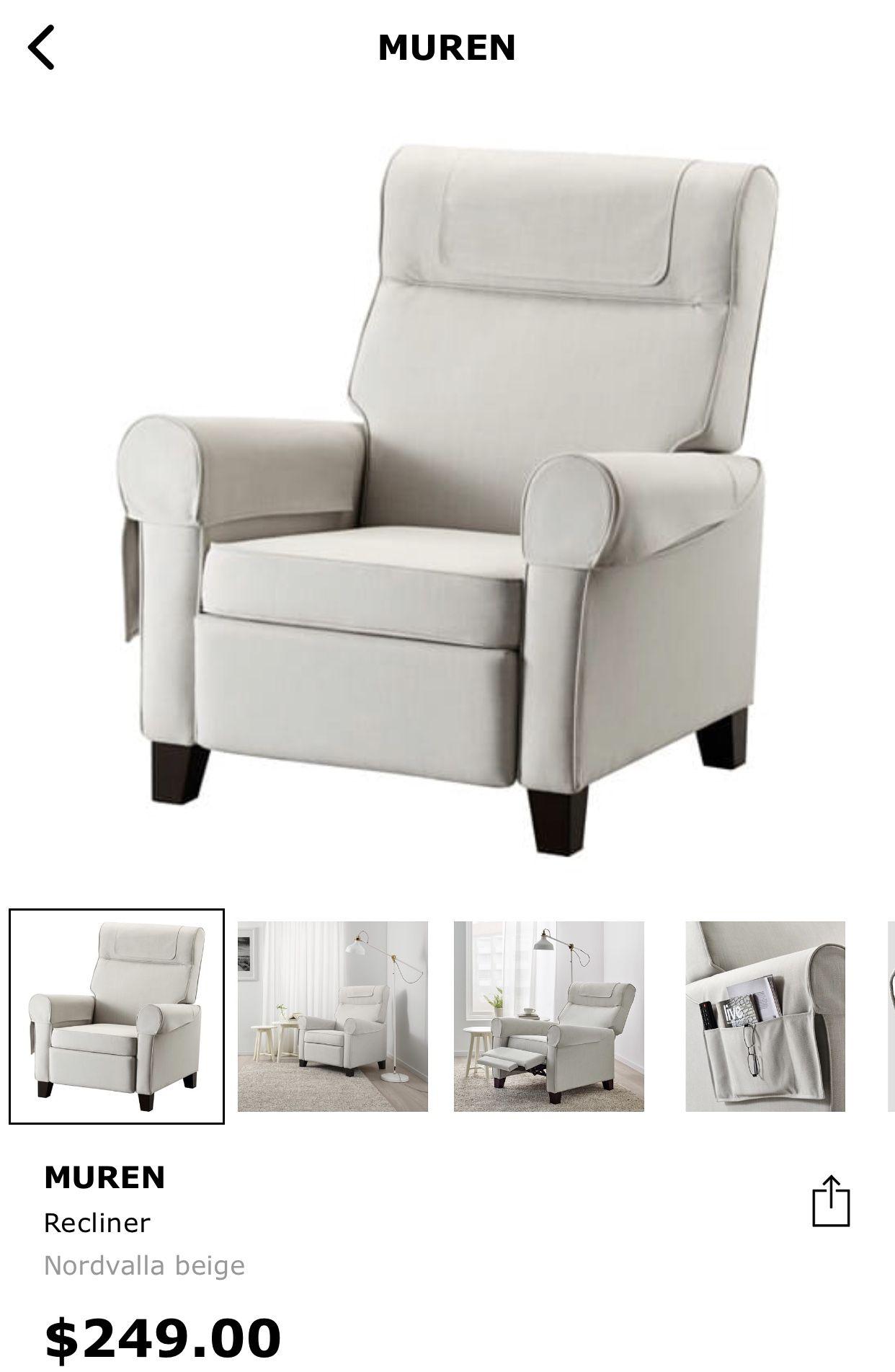 Muren Side Recliner Chair Ikea