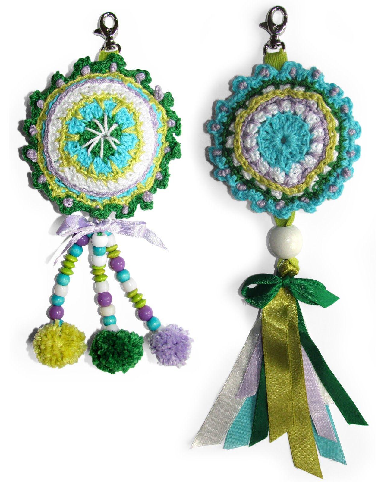 Sleutelhanger Haken Bloemen Breien Craft Creatief Crochet