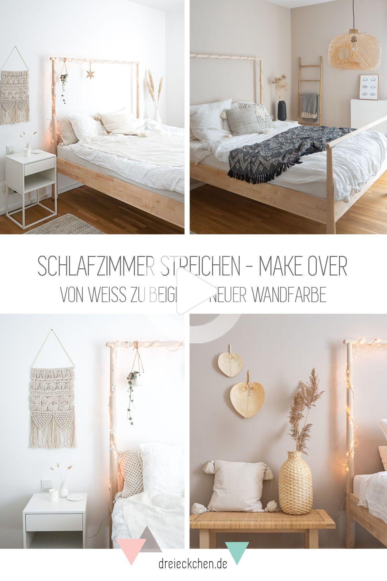 Schlafzimmer streichen - Make Over: von weiß zu beige mit ...