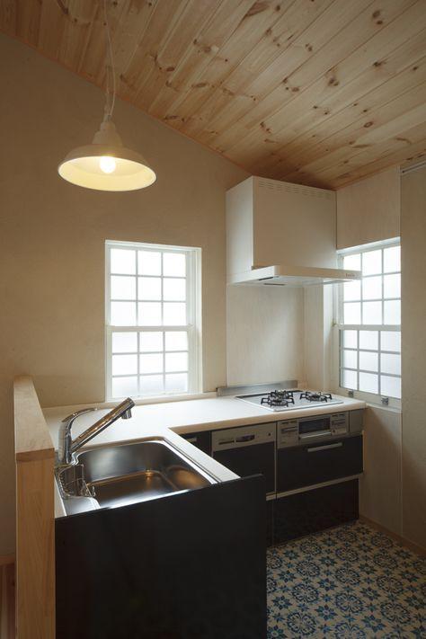 L字キッチン 狭いかなあ 小さなキッチン L型キッチン 素朴なキッチン