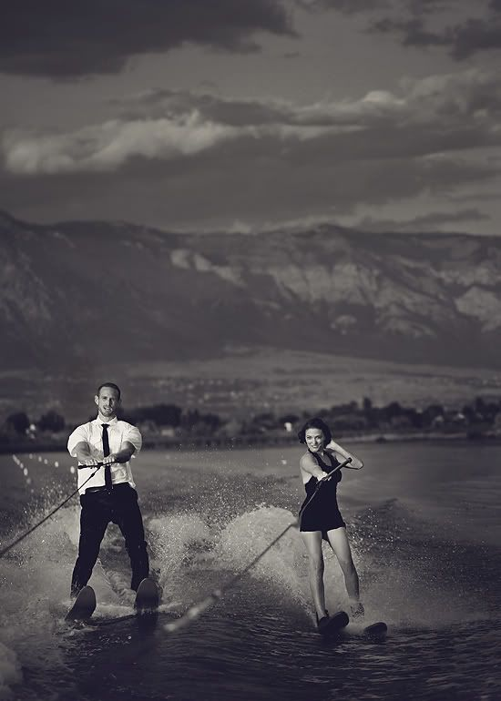 Awesome Vintage Water Skiing Engagement Photos!! :D