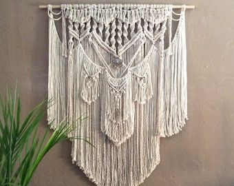 extra large macrame wall hanging tapestry wedding backdrop macrame curtain woven wall hanging. Black Bedroom Furniture Sets. Home Design Ideas