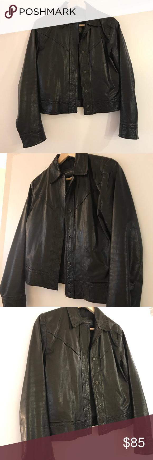 Banana Republic Leather Moto Jacket Women's XS Jackets