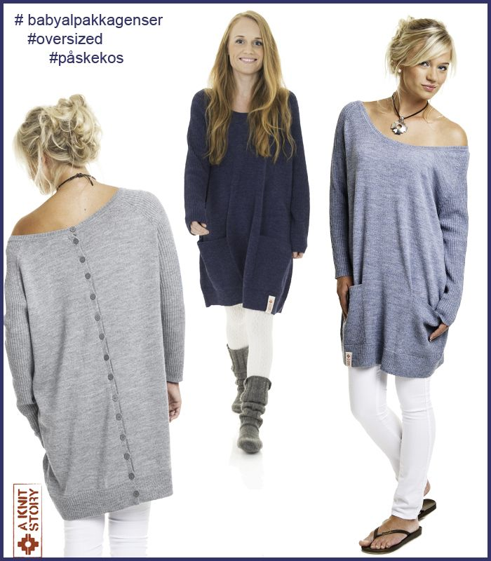 Oversized genser i babyalpakka fra  A KNIT STORY, Vårkolleksjon 2014