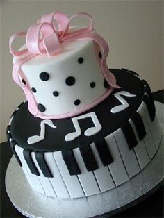 Musical Birthday Cake Pink Cakes Pinterest Cake Music Cakes