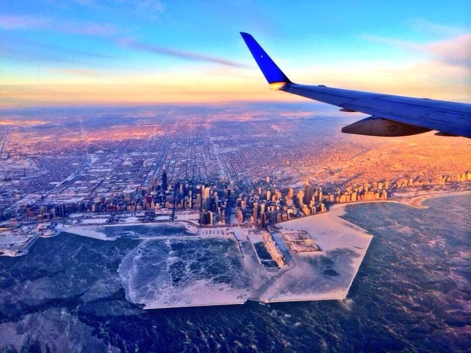 Chicago's deep freeze captured from above Chicago photos