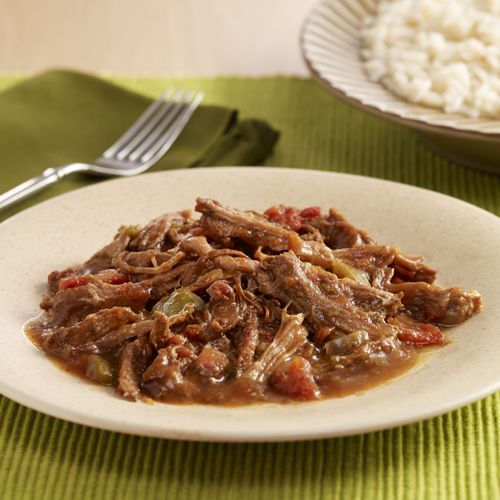 Shredded Beef In Creole Sauce Ropa Vieja Recipes Ready Set Eat Easy Slow Cooker Recipes