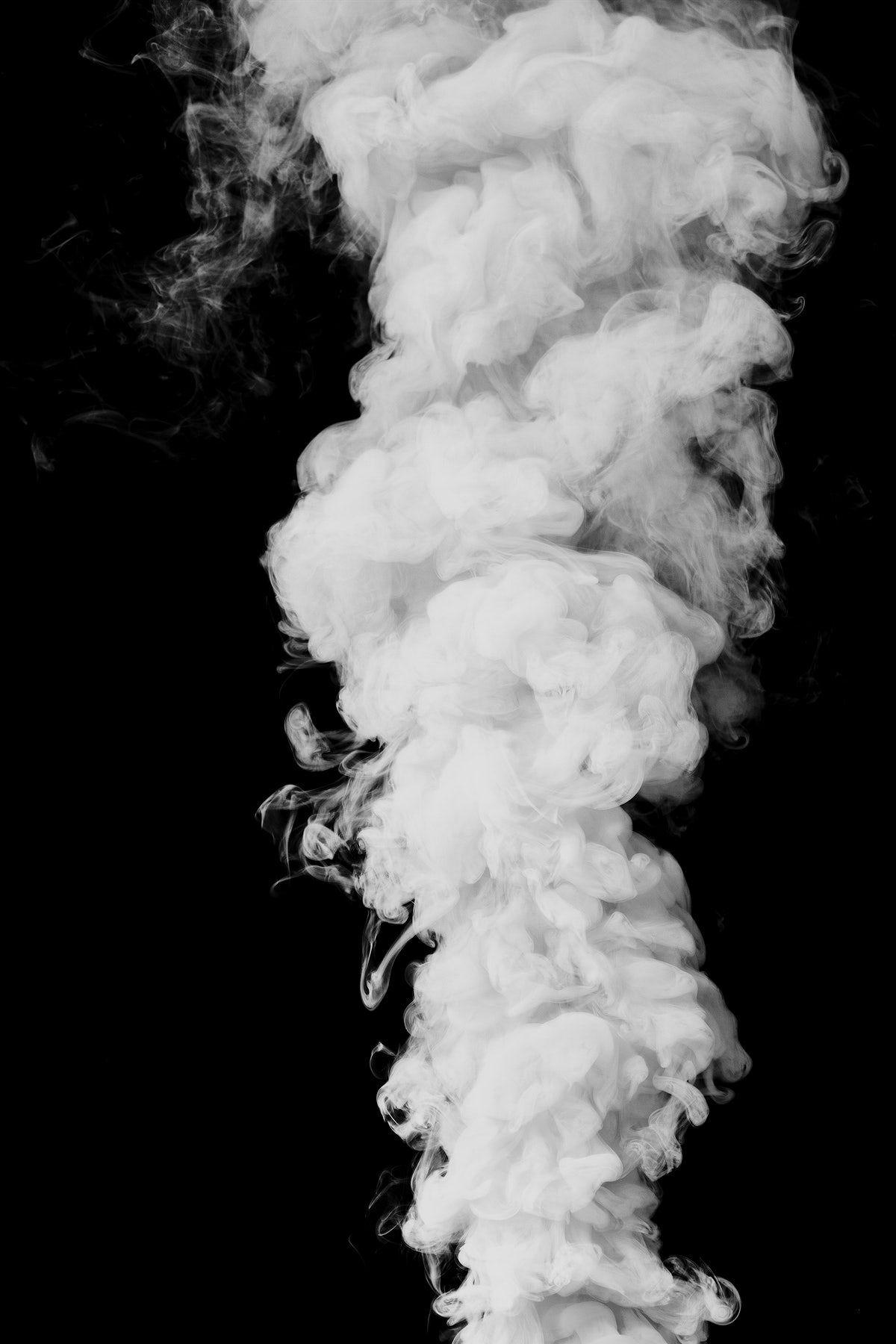 Download Premium Illustration Of White Smoke Effect Design Element On A Black And White Background Smoke Wallpaper Smoke Vector