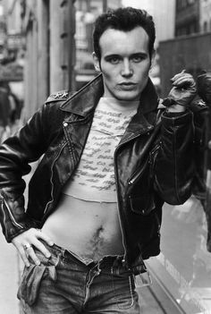 Adam Ant and his super rad half shirt
