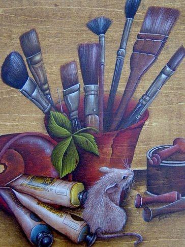 Atelier Bois Et Couleurs  Technique Crayon  LEncre Et Rouging