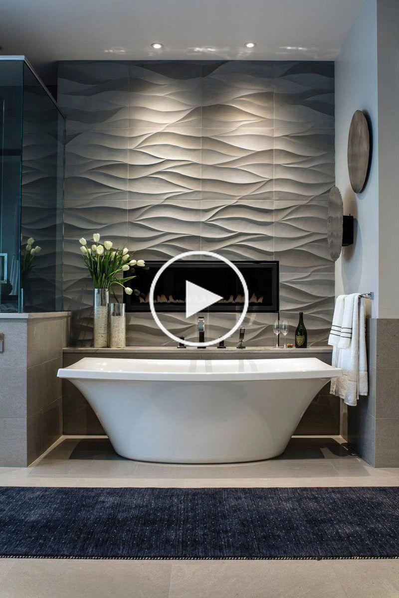 Badkamer Tegel Idee Installeer 3d Tegels Om Texture In Uw Badkamer Tile Bathroom Entryway Decor Living Room Decor Apartment
