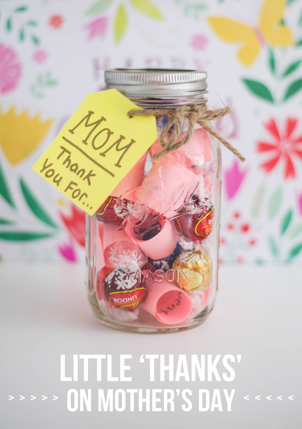Little Thanks For Mom Diy Mothers Day Gifts Mother S Day Diy