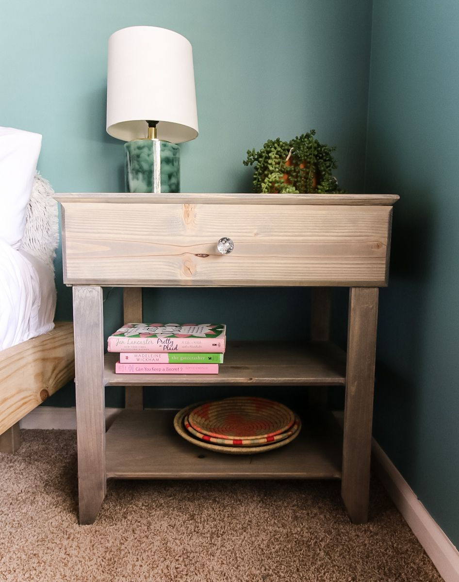 How To Build A Diy Nightstand With A Drawer Free Pdf Plans In 2020 With Images Diy Nightstand Room Inspiration Diy Diy Furniture