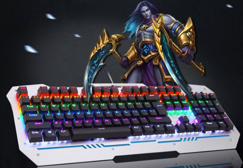 Cool Mechanical Keyboard With Colorful Light For Desktop PC PKB07_16