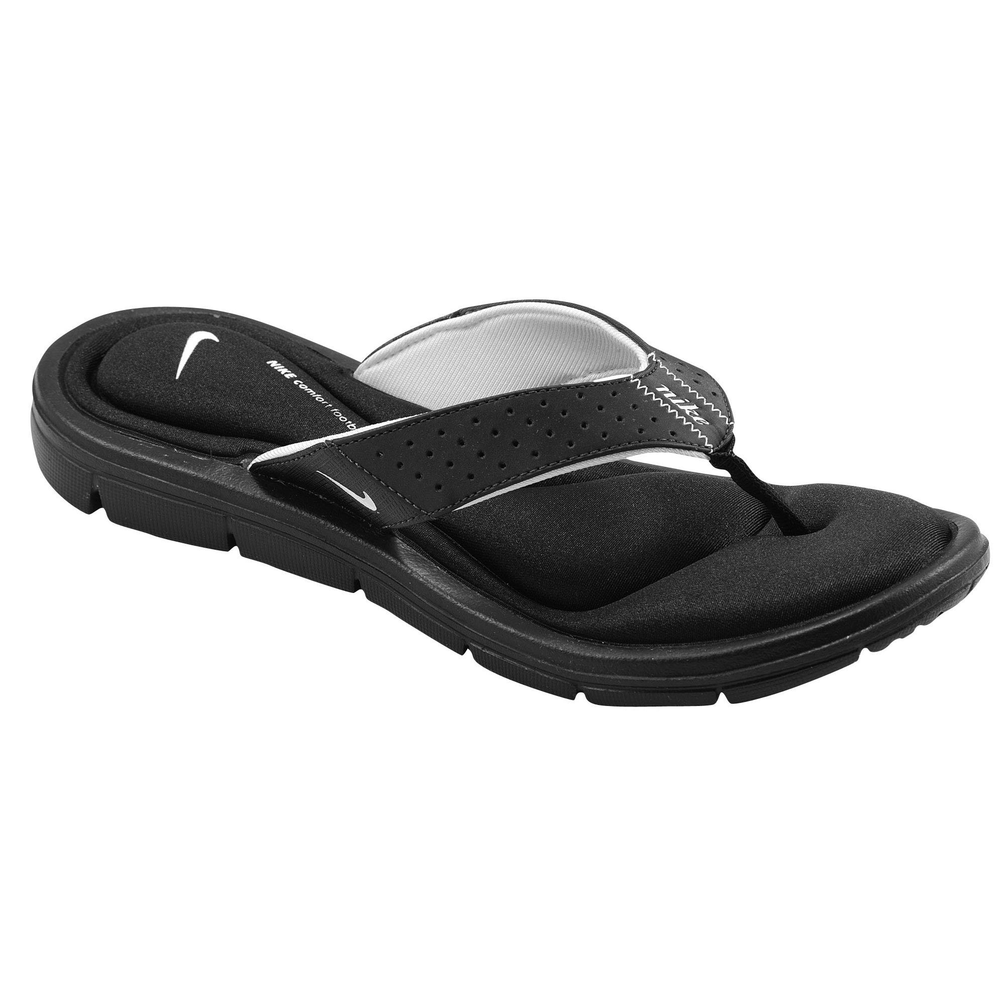 comforter athletic comfort s benassi sandals jdi shoe nike thong women black womens sensation