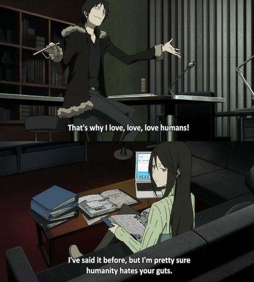 izaya and namie durarara anime and video games
