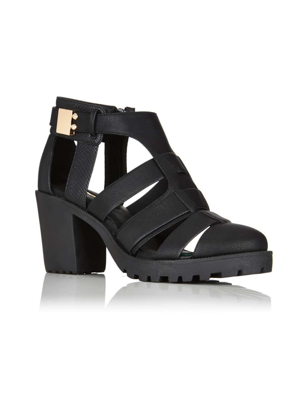 FLOCK cleated shoe - Shoes- Miss Selfridge