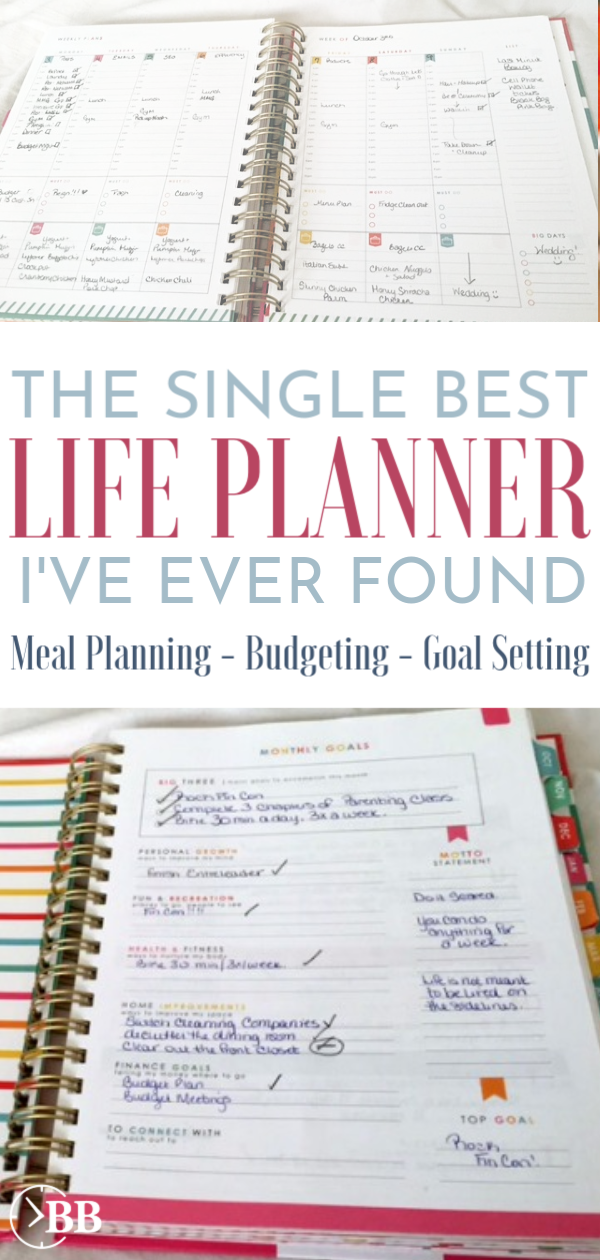 After using most of them, this is the best lifeplanner I've found. It beat the Erin Condren Planner by far because its' the perfect layout for beginners and has categories on meal planning, budgeting, and goal setting. It's been updated for 2019 and has unique design ideas with bright colors. #lifeplanner #livingwellplanner #planner