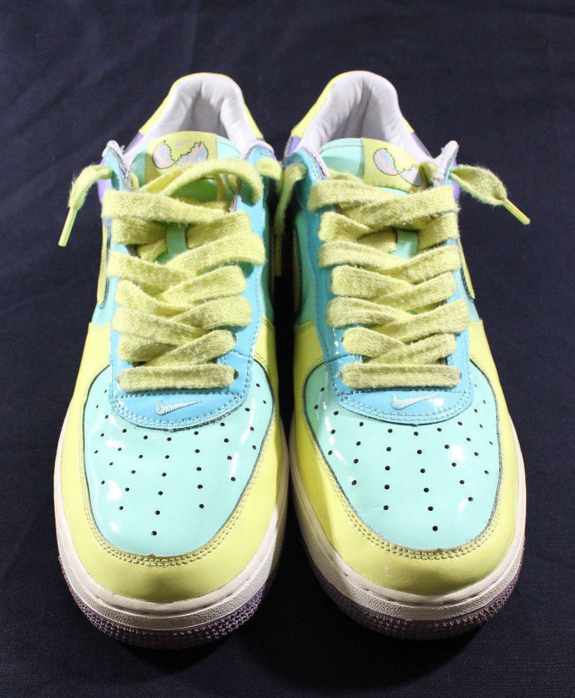 sports shoes d41b9 632fc Nike Air Force 1 Easter Egg 11.5 Mint Frost Purple Low Premium Yellow  312945-37 Nike BasketballShoes