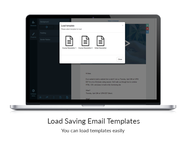 bal email newsletter builder php version with 20 different