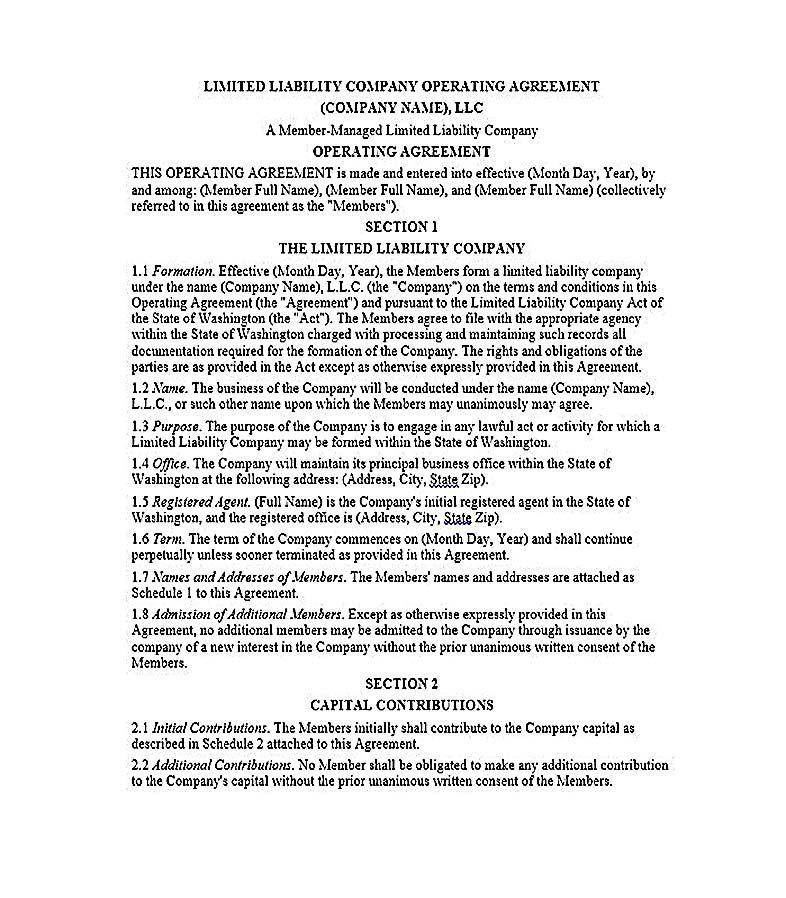 Llc Operating Agreement 23 Llc Operating Agreement Template Llc Operating Agreement Template Is An Agreement Agreement Templates Limited Liability Company