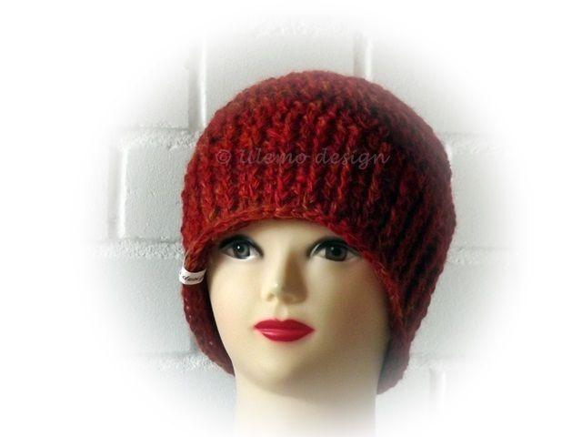 Beanie,Mütze aus handgesponnenem Garn von ULeMo`s  Mützen, Hüte, Taschen und mehr auf DaWanda.com