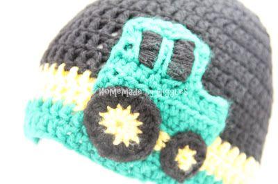 Homemade by Giggles  Character Hats. Crochet John Deere Hat. Tractor. John  Deere 5619a71fdc9