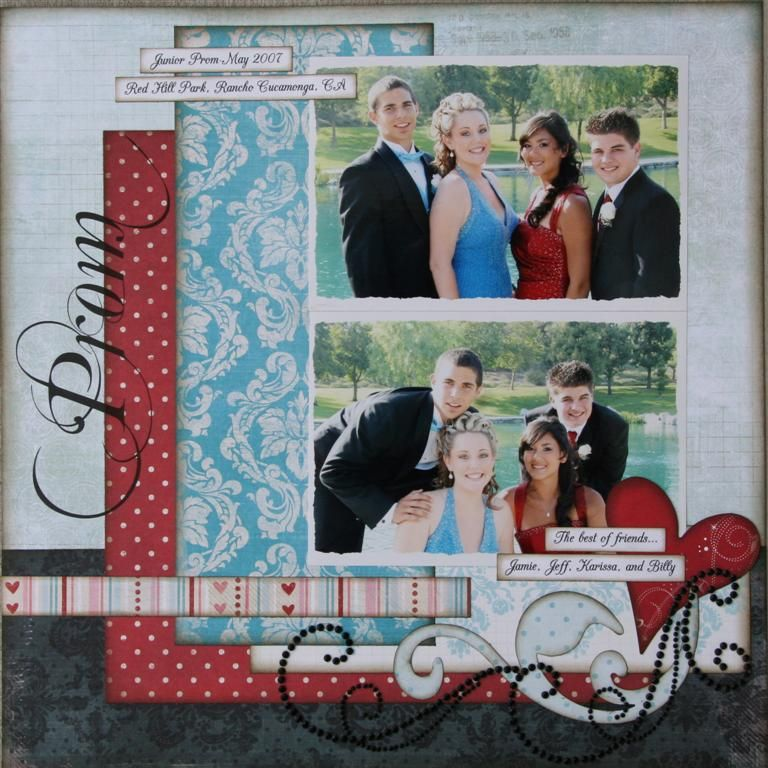 From Everyday Scraps...a formal layout by Julie Johnson