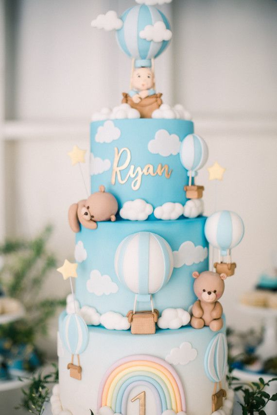 hot air balloon dessert table for an amazing 1st birthday party | Wedding & Party Ideas