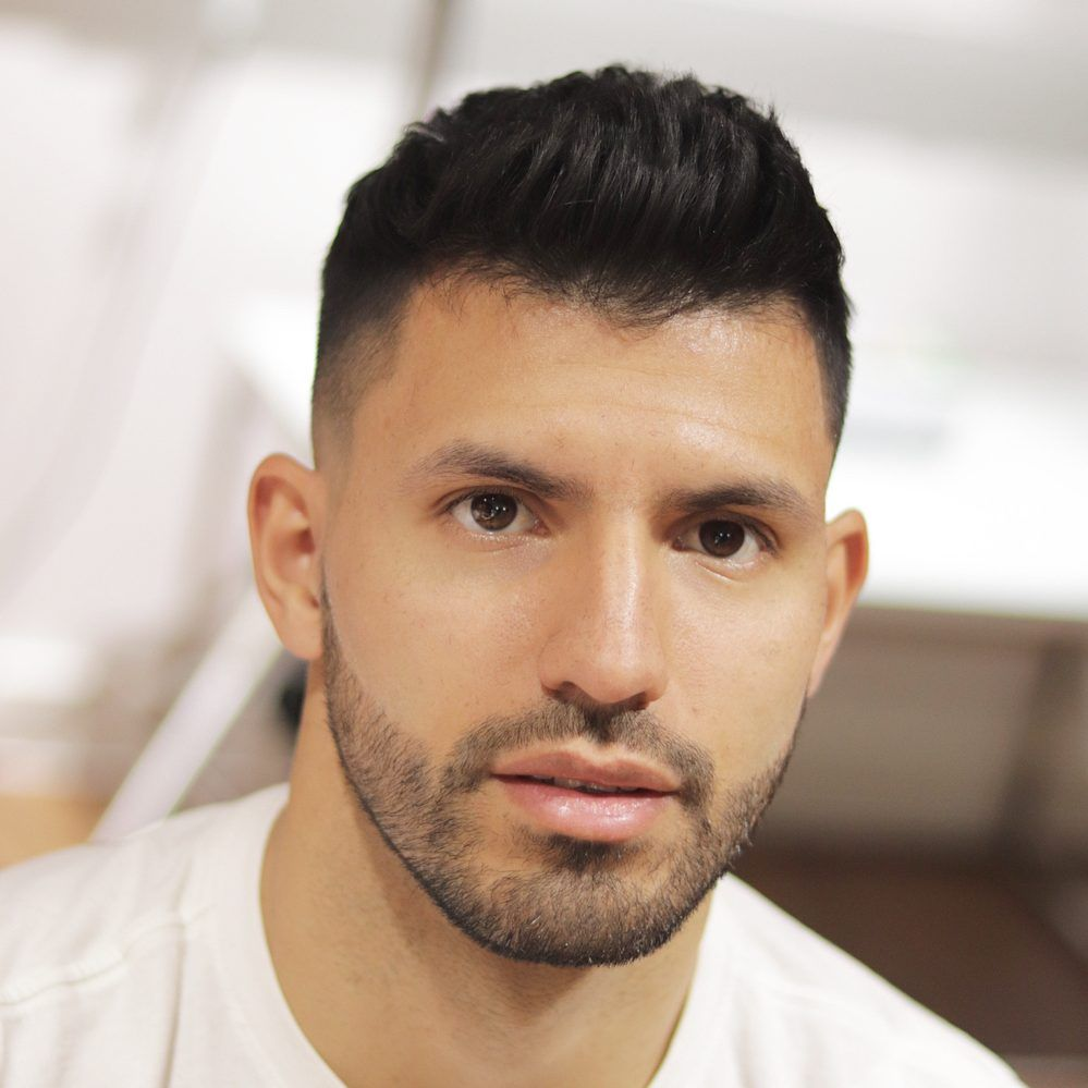 soccer player haircuts the lethal aguero pinterest low
