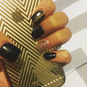 Pin By Abigails Nail On Black And Gold Nail Designs Pinterest