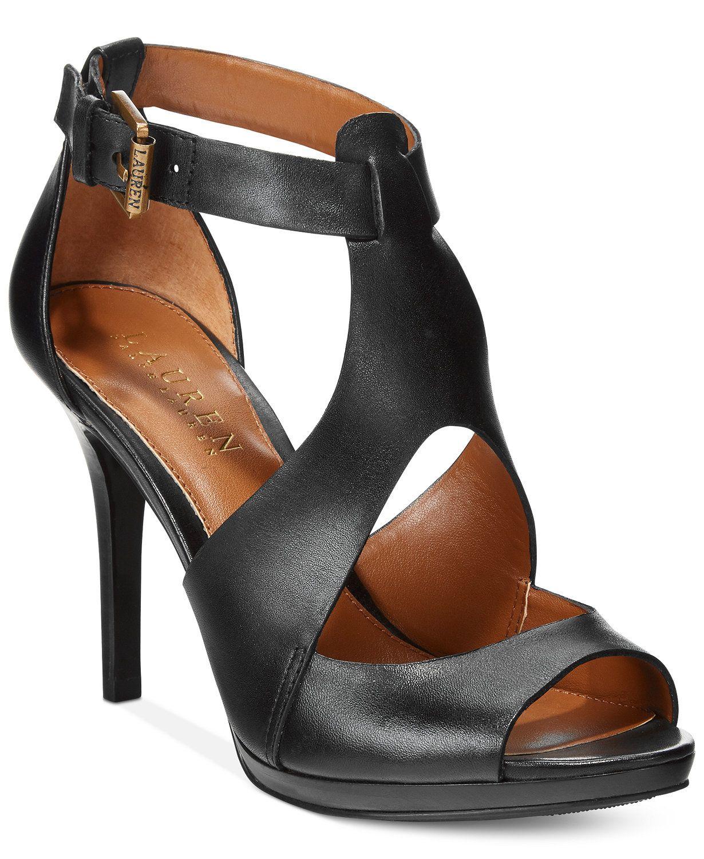 eda746664399 Lauren Ralph Lauren Beth Peep-Toe Sandals - Sandals - Shoes - Macy s ...