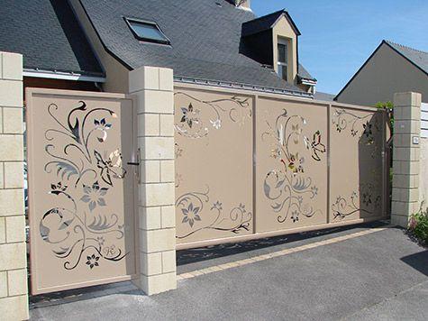 Portail Coulissant Autoporte Decoration Maison Exterieur Porte Moderne Portail Coulissant