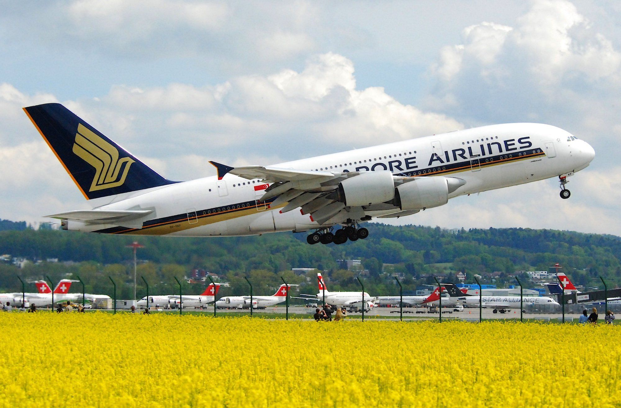 Singapore Airlines changed a US flight route because of