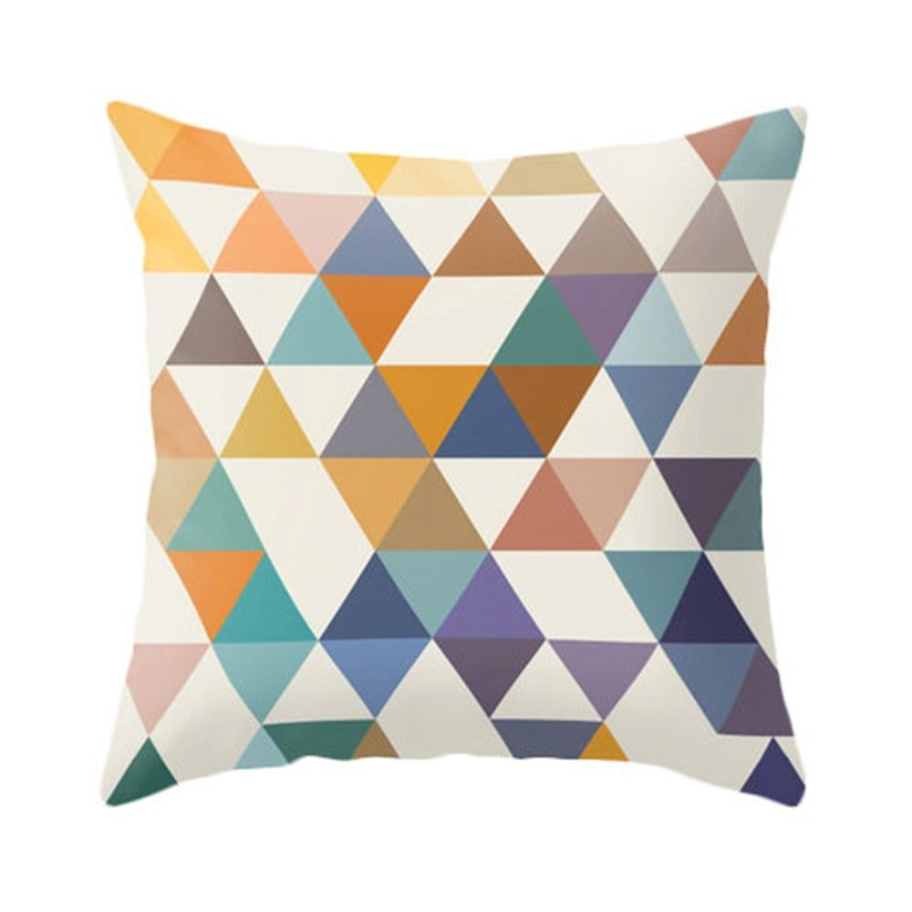 cult living geometric suedette triangle cushion  mustard  - cult living geometric suedette triangle cushion  mustard