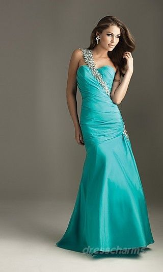 turquoise one shoulder straps mermaid sweetheart | Virtual Disney ...