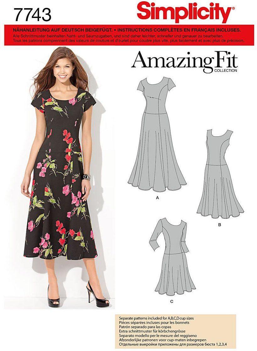 Simplicity Schnittmuster 7743.AA Kleid: Amazon.de: Küche & Haushalt ...