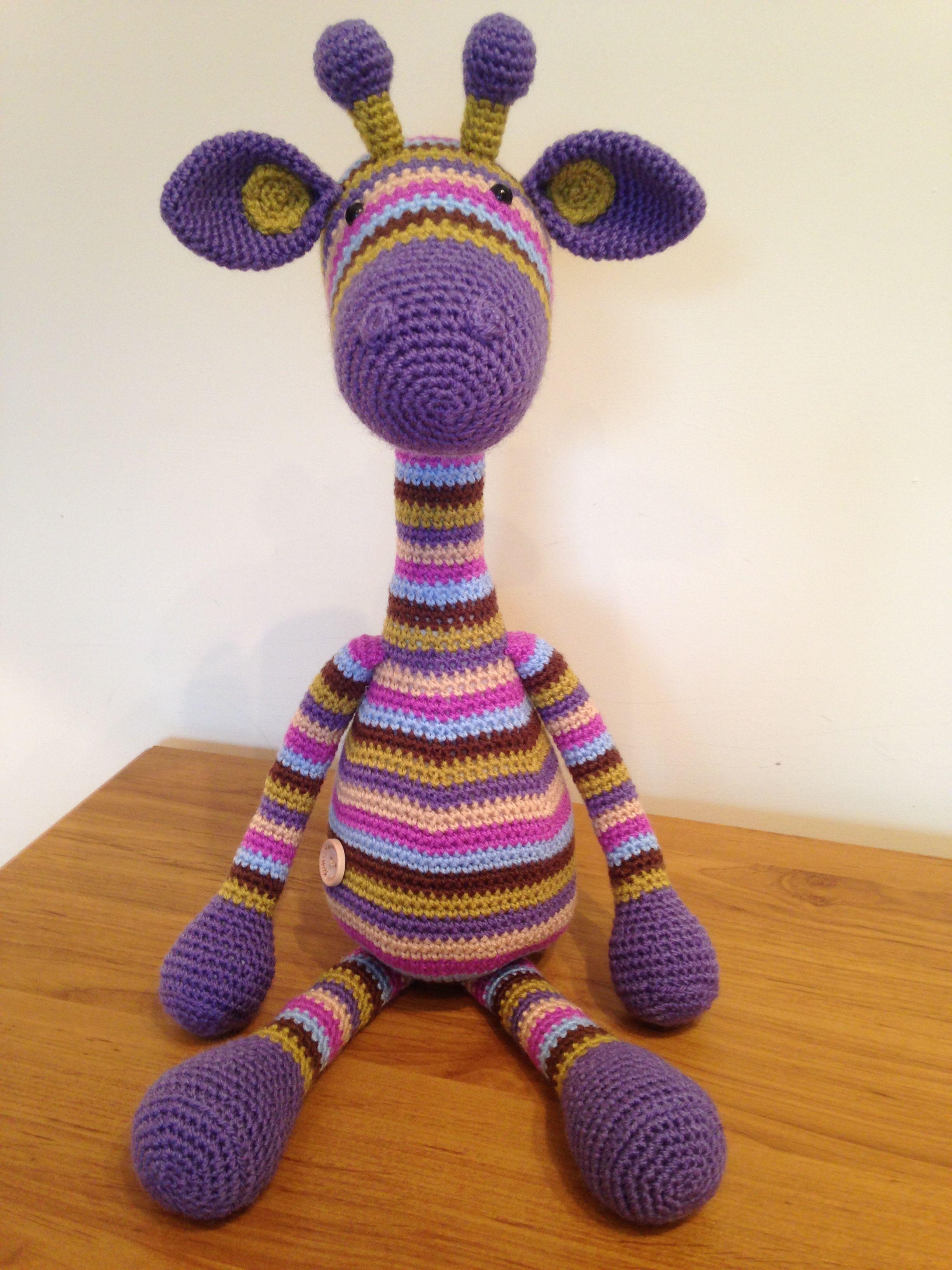 Another Amigurumi giraffe made using a Stip and Haak pattern