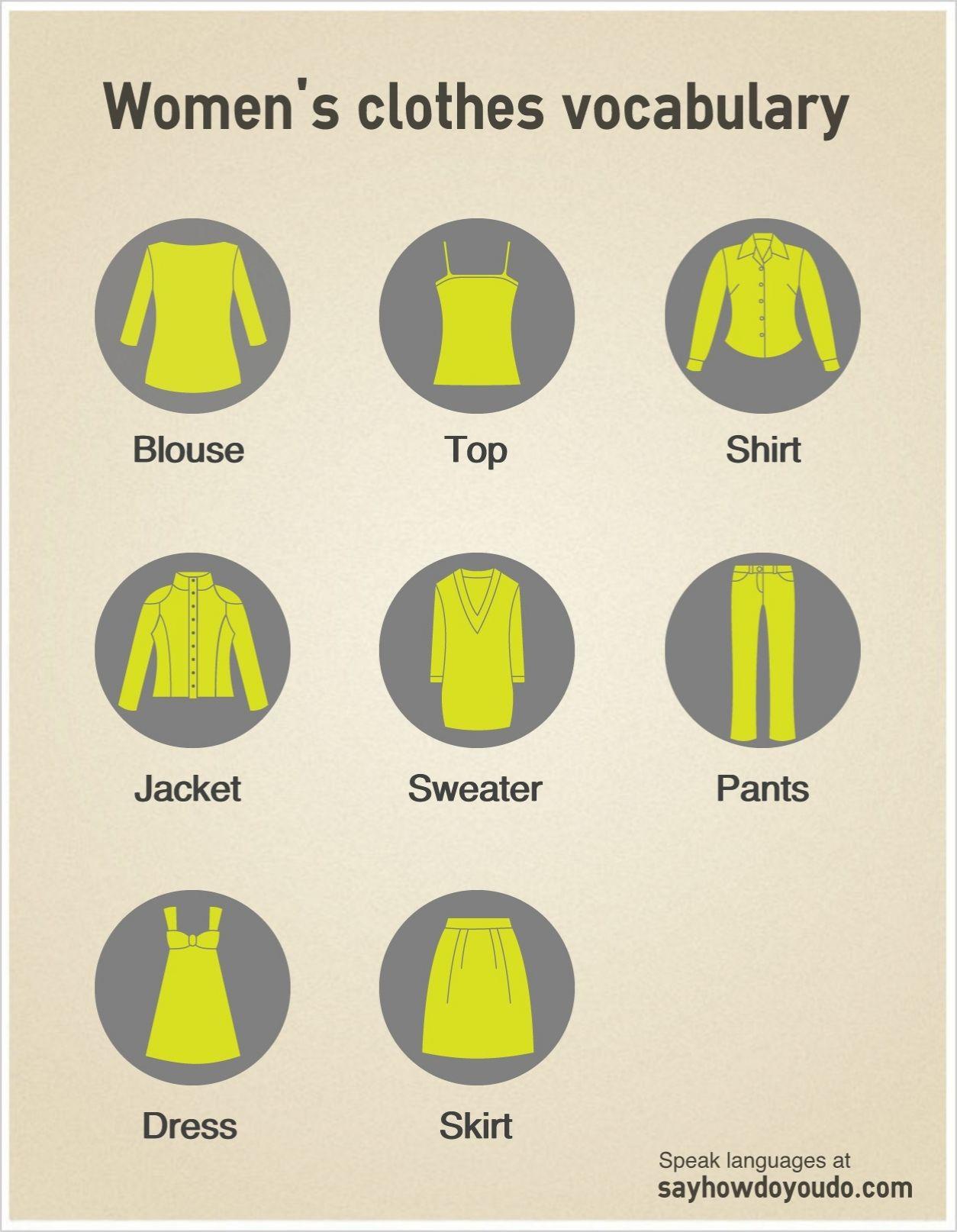 Women S Clothes Vocabulary Efl Esl Learnenglish
