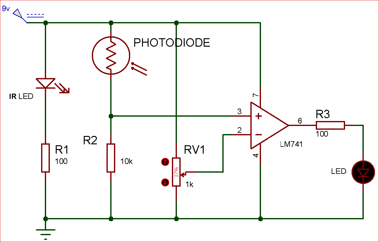 ir sensor circuit diagram [ 1217 x 778 Pixel ]