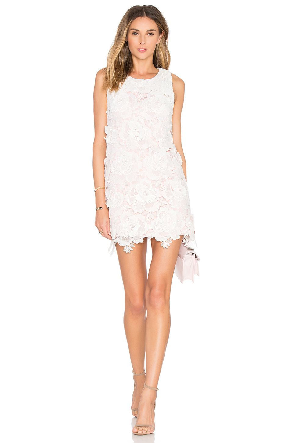 State of Being Roses Only Mini Dress in Blush & White | Bridal ...